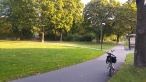 Bild: 15 september: Ibland ser min väg till jobbet ut så     här.