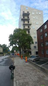 Bild: 22 september: Att cykla är att se stan växa, även inne     på KTH Campus.