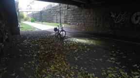 Bild: 25 oktober: Det finns inga dåliga väder … (men     eftersom jag inte har selfiepinne lyckas jag inte visa mina     kläder)