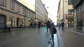 Bild: 16 november: På en del ställen får man ta det lite lugnt.     Cykel är ändå smidigaste transportsättet i stan.