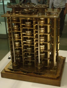 Bild: En del av Charles Babbages Differential Engine No. 1.