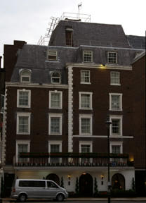 Bild: Park Lane Mews hotel, där vi bodde.