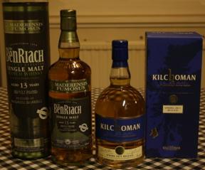Bild: Royal Mile Whiskies var en trevlig butik, där man kunde strosa       runt och diskutera smak med en kunnig expedit.       Här är resultatet därifrån.