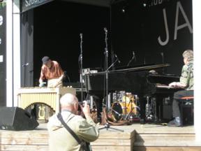 Bild: Lars Erstrand, vibrafon och Kjell Öhman, flygel.