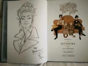 Bild: Signeringstecking av Ingo Römling i senaste Malcolm       Max
