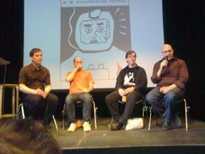 Bild: Mats Jonsson, Mike Diana, David Liljemark, och Lauren       Weinstein